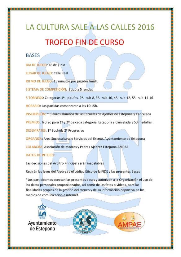 TROFEO (BASES) FIN DE CURSO ,LA CULTURA SALE A LAS CALLES 2016-001