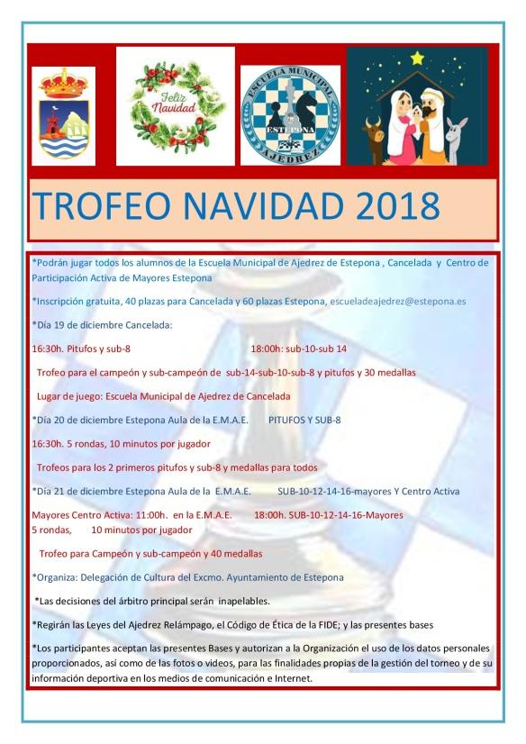 BASES TROFEO NAVIDAD 2018 nuevo